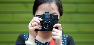 YD with her newly repaired Holga